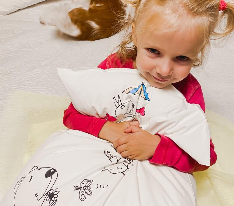 New children's barrier bedding collection: infection prevention functionalities and fun patterns